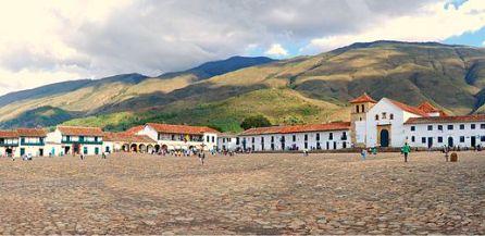 Le centre de la ville de Villa de Leyva, dans le Boyaca