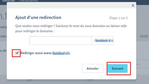 Redirection de nom de domaine chez OVH - Etape 1