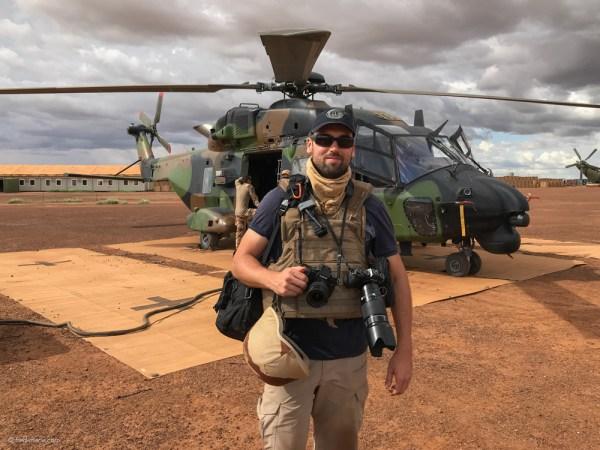 portrait fred marie hélicoptère Mali Barkhane