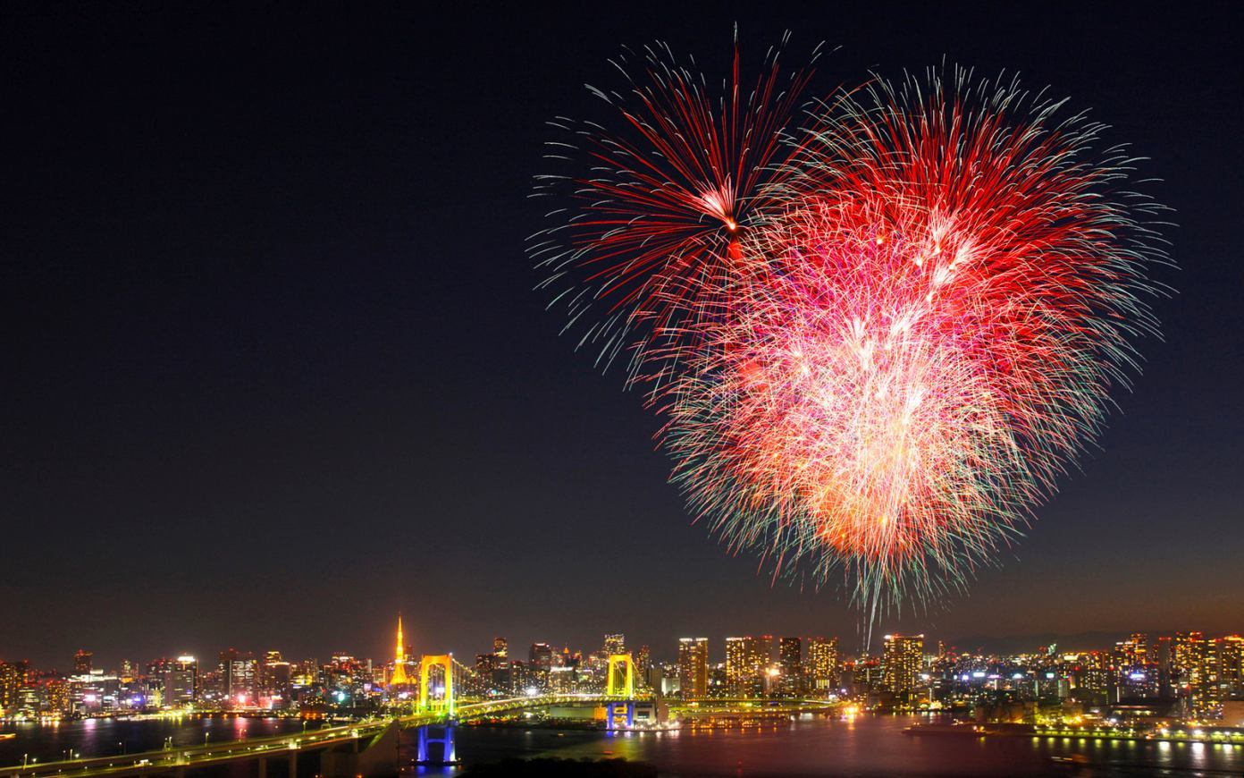New Years Eve Fireworks Japan