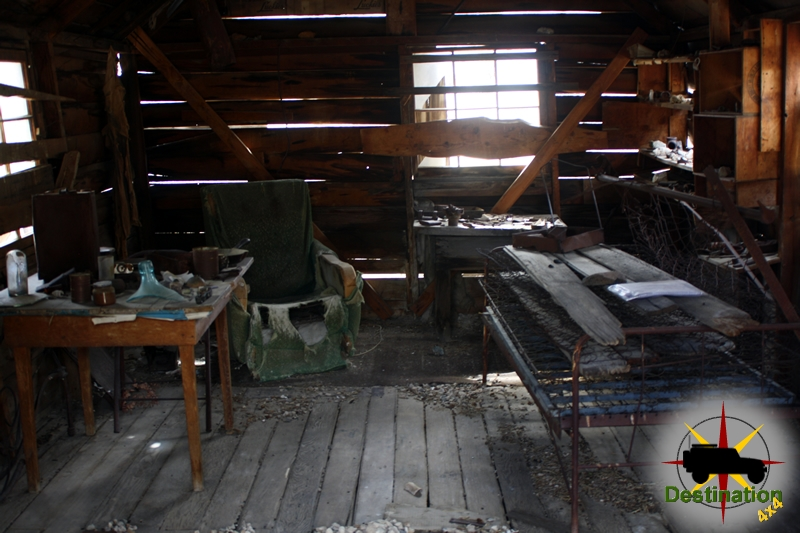The Lost Burrow Mine cabin interior