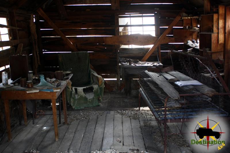 The Lost Burrow Mine cabin interior