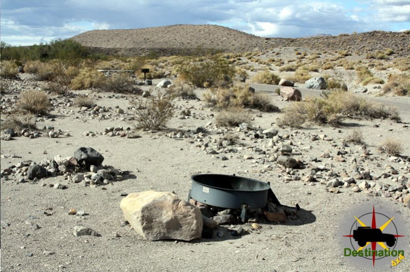 A typical campsite at Mesquite Springs, Death Valley National Park