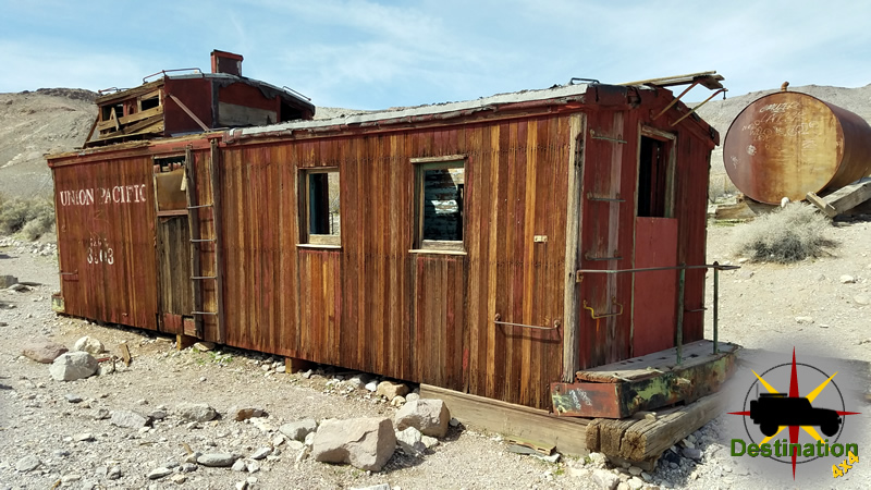A trains cabose as found in Rhyolite, Nevada
