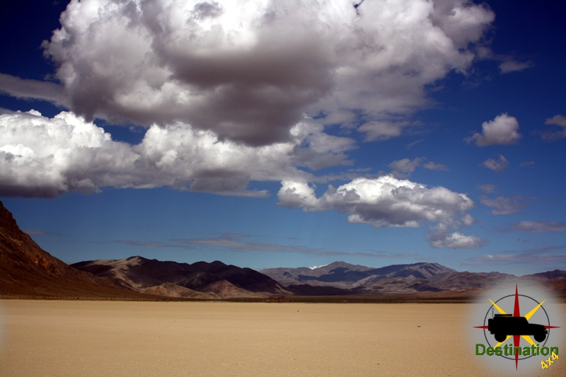 The Racetrack Playa of Death Valley.