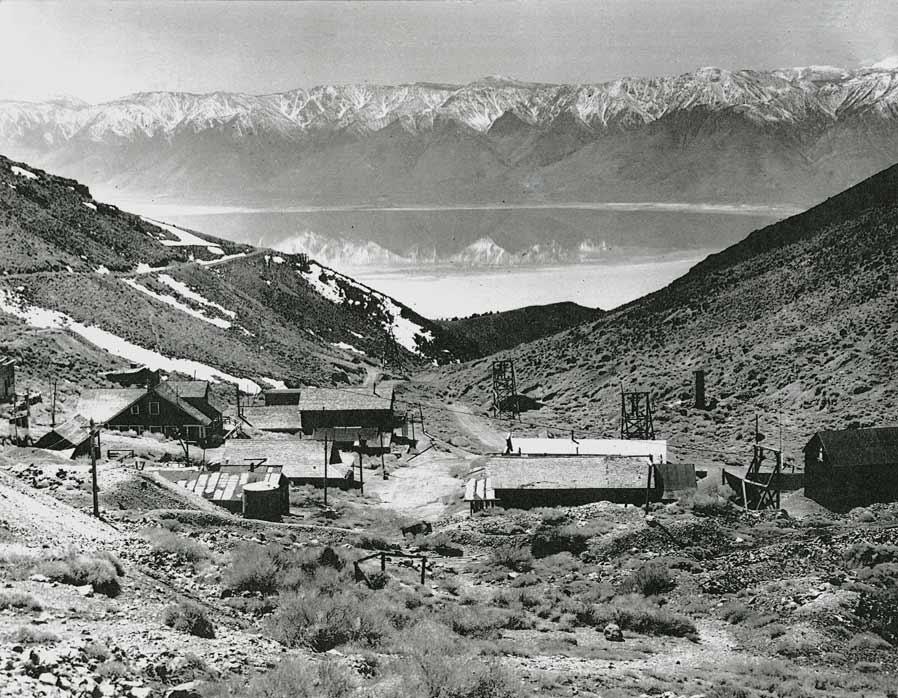 Cerro Gordo overlooking the then full Owens Lake.