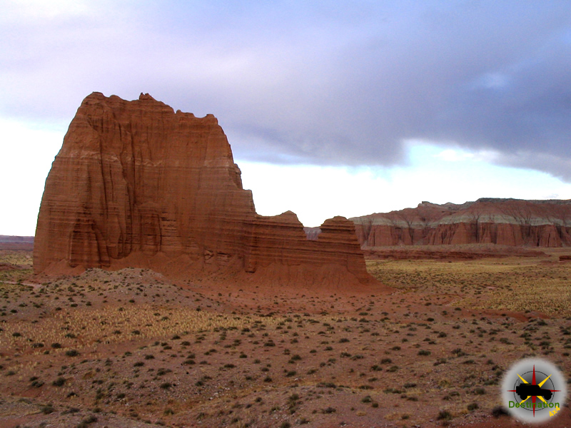 Temple of theSun, located on Cathedral Valley Trail in Capital Reef National Park, Utah
