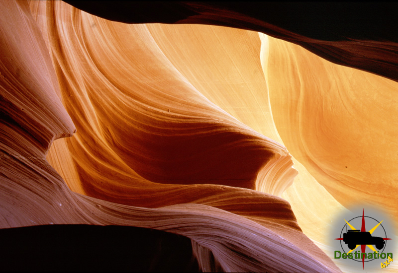 Molten Wave - Located in Antelope Canyon near Page, Arizona Antelope Canyon is the best known slot canyon.
