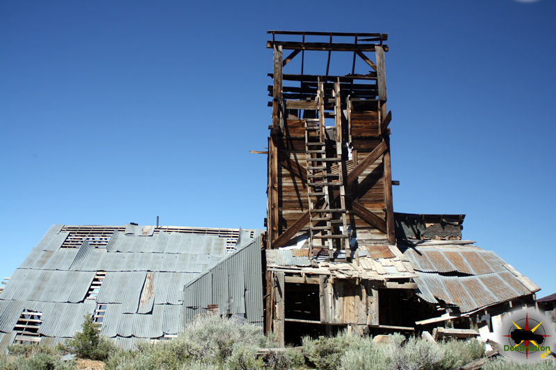 The Chemung mine still maintains and impressive structure. Photograph by James L Rathbun