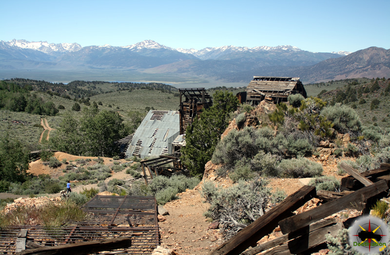 The Chemung gold mine over looking the Bridgeport Valley on in Mono County 4x4 Trails. Photograph by James L Rathbun