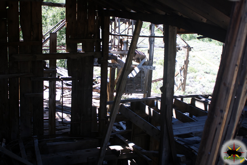 Time, weather and gravity have taken its toll on the structure of the Chemung Mine.. Photograph by James L Rathbun