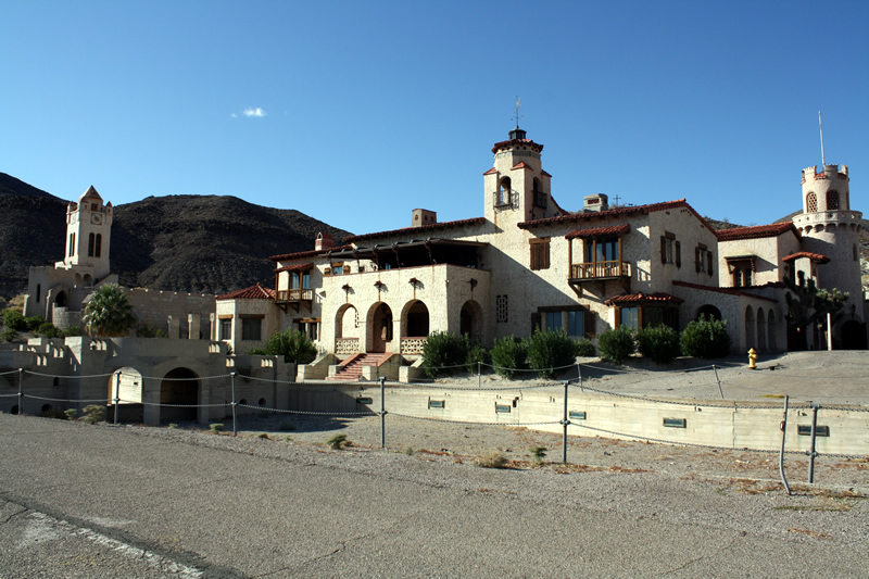 Scottys Castle is found in Grapevine Canyon in Death Valley National Park
