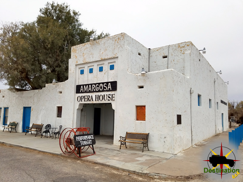 The Arargosa Opera House is located in Death Valley Junction, California.