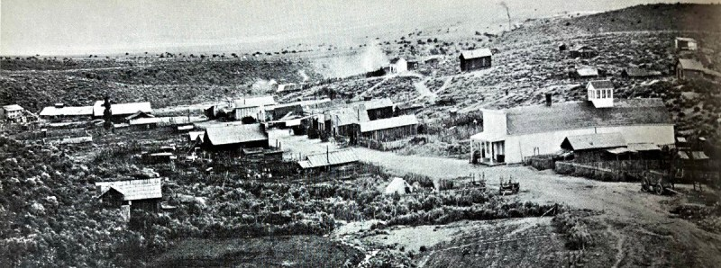 Ione settlement, with Ione Valley in the background, c 1900