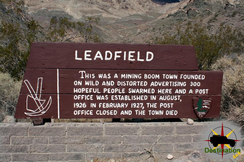 Leadfield Sign, Death Valley, California