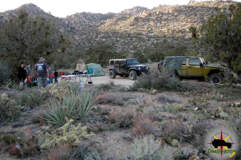 Our campsite from a distance in Caruthers Canyon