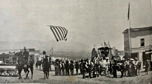 Fourth of July parade, Fairview, Nevada 1906. - Stanley W. Paher, Nevada Ghost Towns and Mining Camps, (1970), Howell North, p96, Ashley Cook Collection, Theron Fox Collection