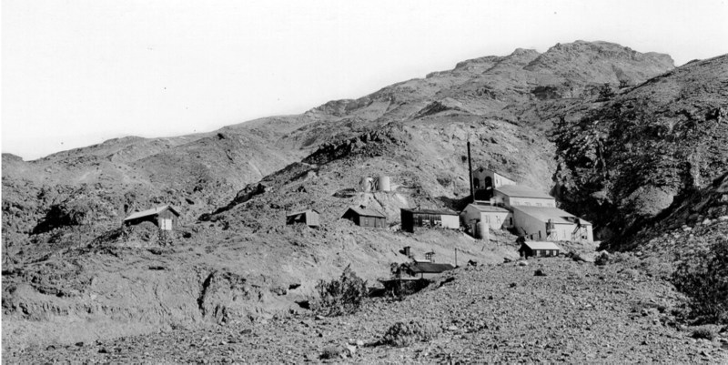 Keane Wonder Mine - 1916 - Quartz mill. Mine said to have produced $1,000,000. Closed May 1916 as the developed ore bodies were worked out.
