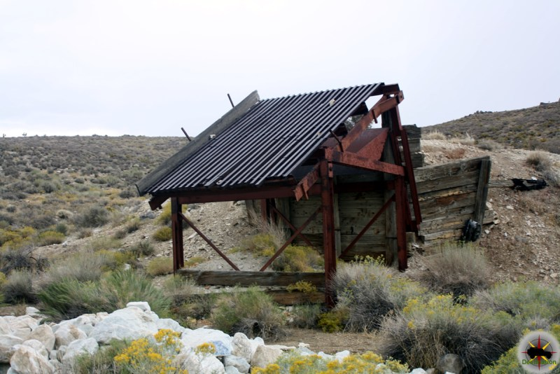 A sorting screen at the Calmet Mine in the Goldbelt Springs Mining District, Death Valley National Park, California
