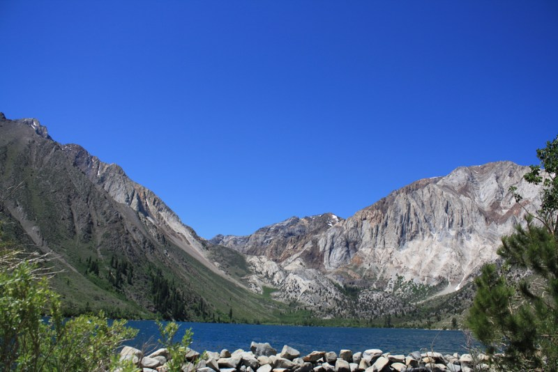 Another beautiful day at Convict Lake, in the High Sierra Mountains