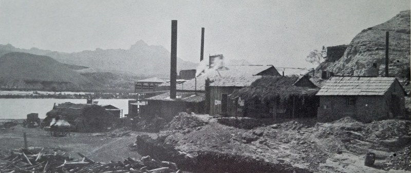 The Southwest Mining Company Quartz mill located just off the Colorado River.