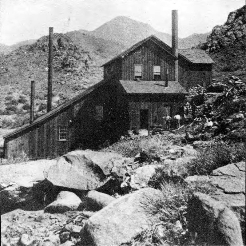 Stamp mill and Mineral Park, Arizona