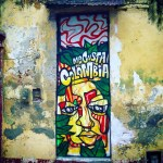 Colombian street art in the city of Cartagena - Travelling Solo In Colombia
