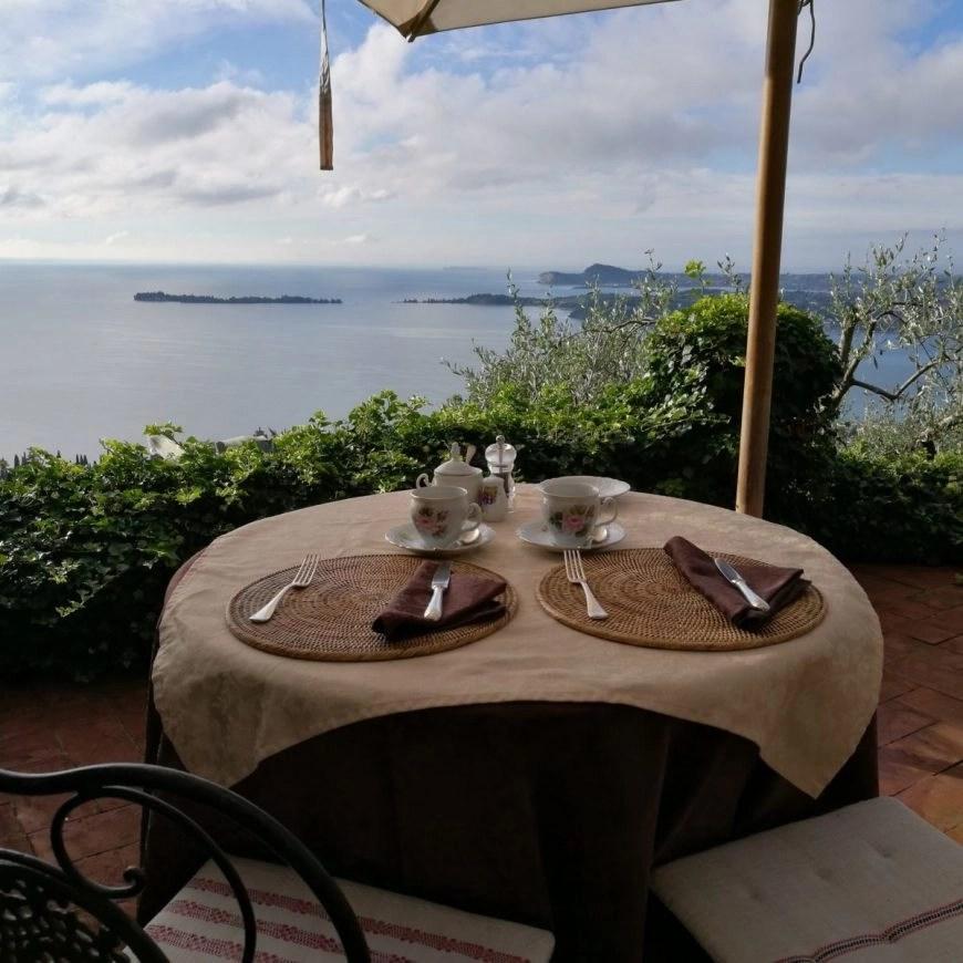 Beautiful breakfast view from Dimora Bolsone's terrace