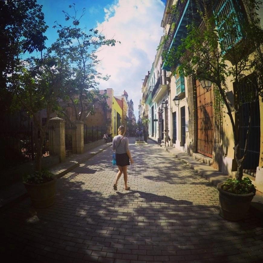 Wandering through the streets in old Havana
