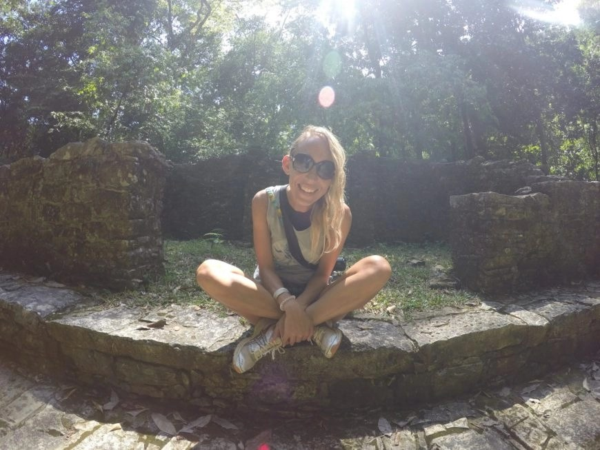 Destination Addict - All smiles surrounded by jungle , howler monkeys & the magical Mayan ruins of Palenque