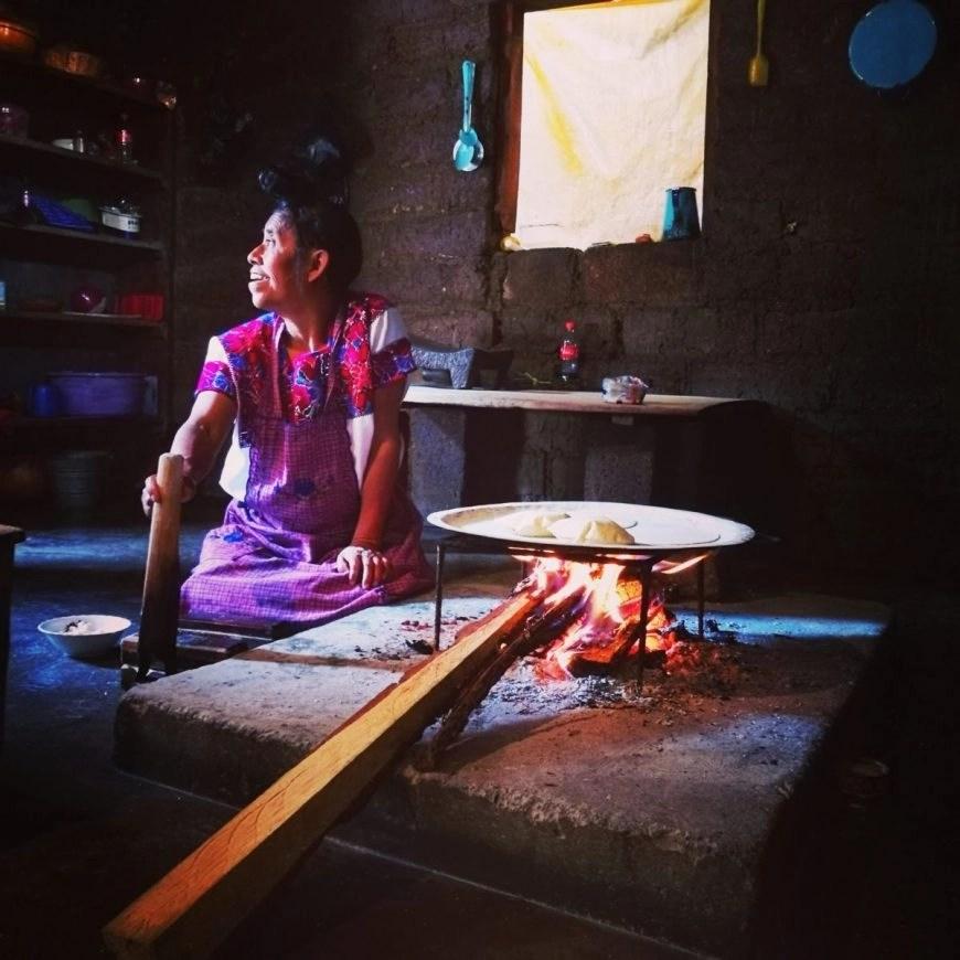 Destination Addict - Totzil lady making us some freshly made Tortias, Zinacantan, San Cristobal De Las Casas, Mexico