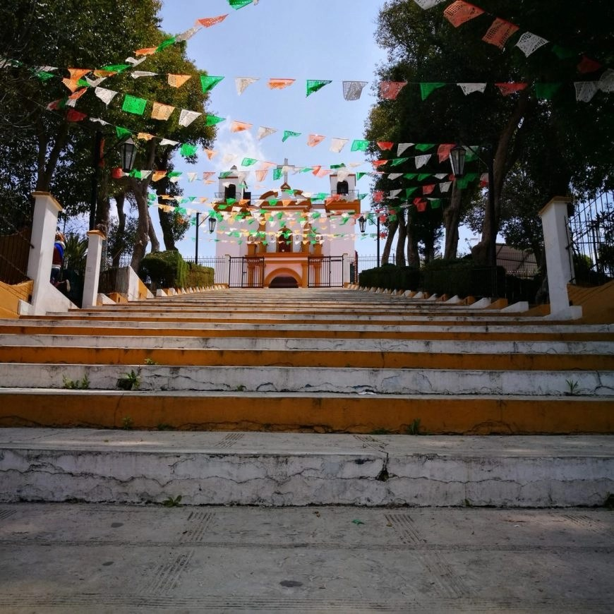Destination Addict - Stairs leading up to the Inglesia de Guadalupe and one of the many viewpoints in San Cristobal De Las Casas, Mexico