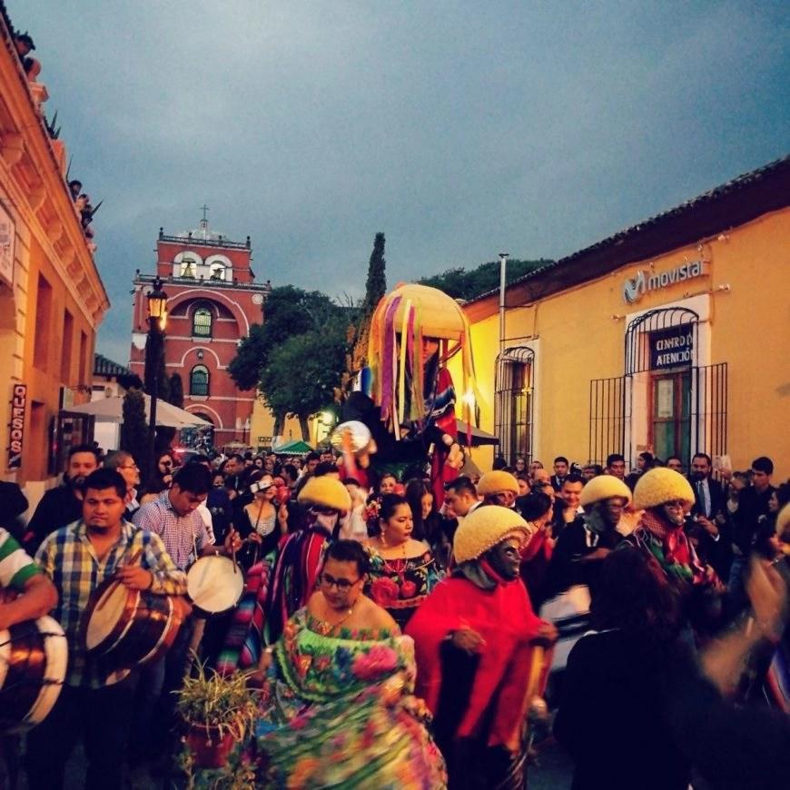 Destination Addict - Street procession in San Cristobal De Las Casas, Mexico