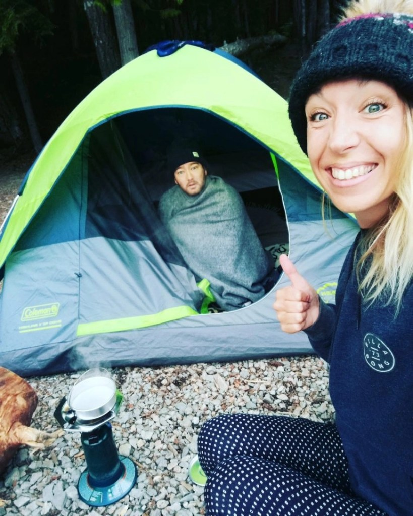 Destination Addict - Early rise after camping out at Cheakamus Lake, Whistler, British Columbia, Canada