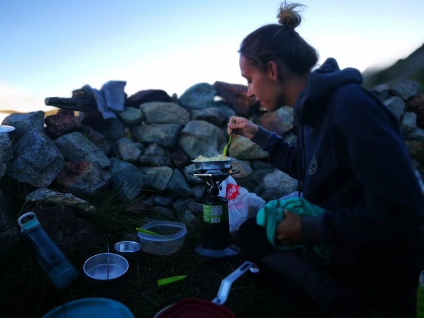 Destination Addict - Cooking up a campfire feast, Russet Lake, Whistler, British Columbia