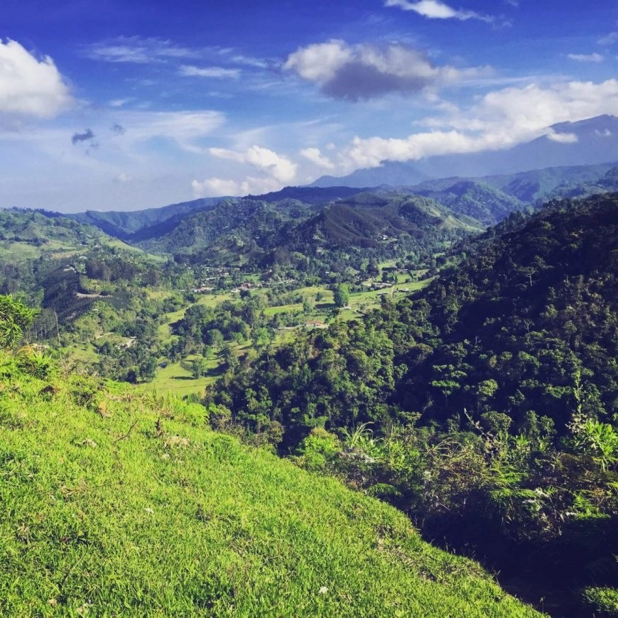 Destination Addict - Beautiful views from the top of the Kasaguadua nature reserve, Salento, Colombia
