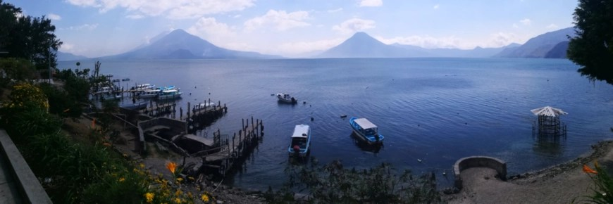 Destination Addict - One of our first views of Lake Atitlán, Guatemala
