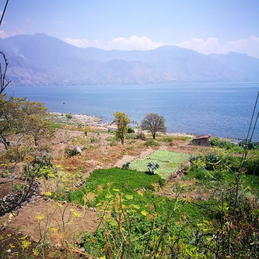 Destination Addict - Enjoying the views on a walk close to the village of San Pedro La Laguna, Lake Atitlan, Gautemala