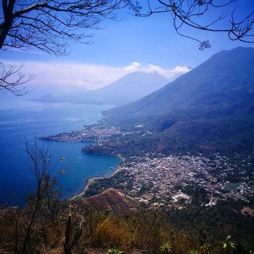 Stunning views from the Indian Nose viewpoint, Lake Atitlan, Guatemala