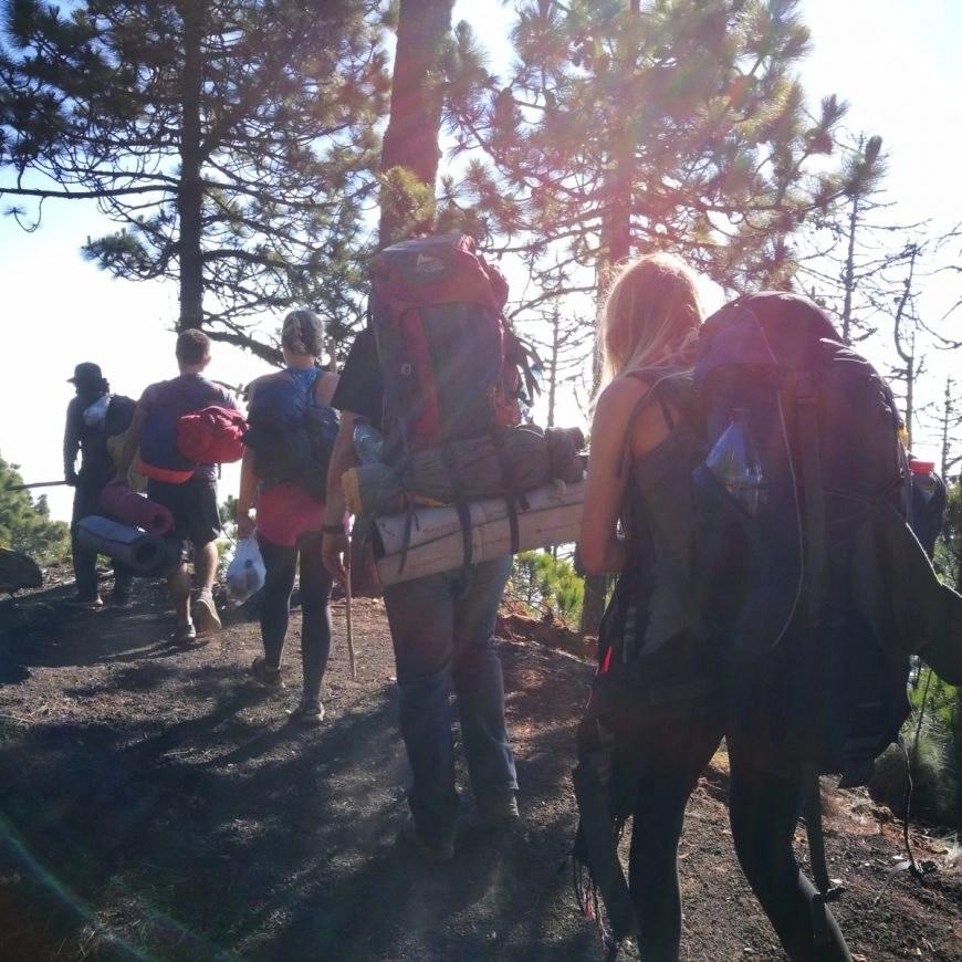 With our group hiking Volcan de Acatenango, near Antigua, Guatemala