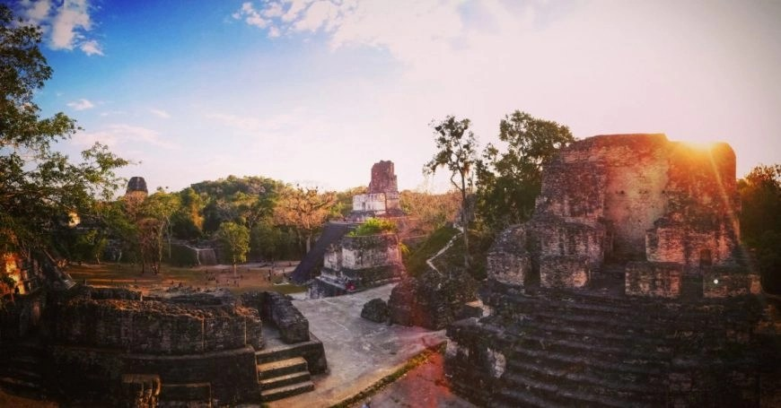 Destination Addict - Incredible light as the sun was setting over the ruins of Tikal, Guatemala