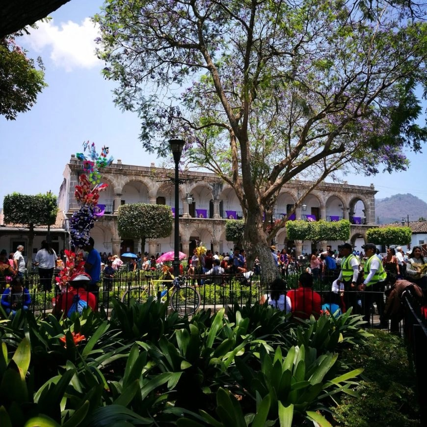Destination Addict - View from inside the Main Square in Antigua, Guatemala