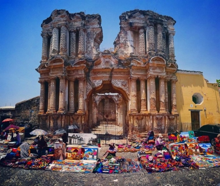 Backpacking In Guatemala - Market stall in Antigua