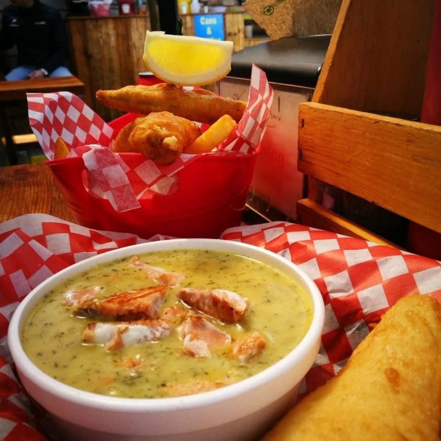 """Destination Addict - Yummy chowder & fish n' chips at """" Big Daddy's"""""""