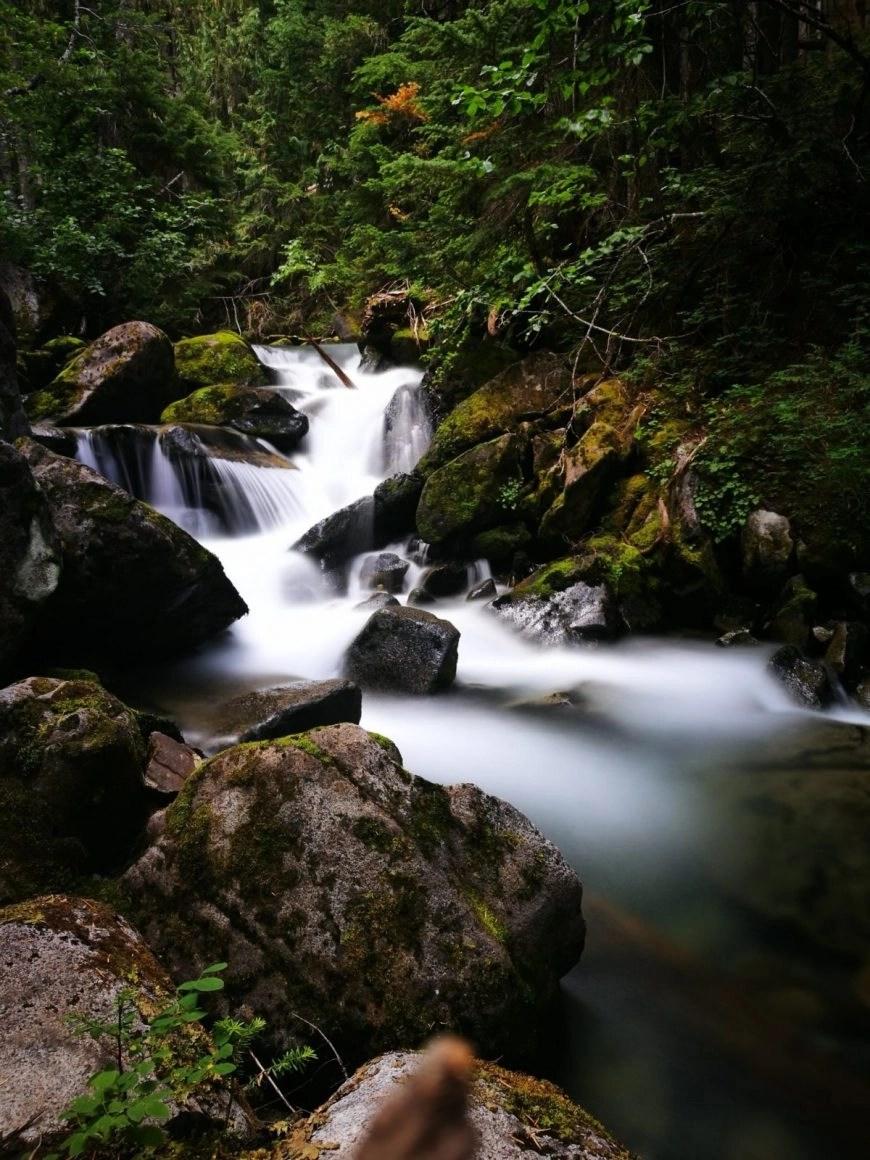 Destination Addict - Enjoying one of the many waterfalls on  the Skywalk Trail, near Whistler, British Columbia, Canada