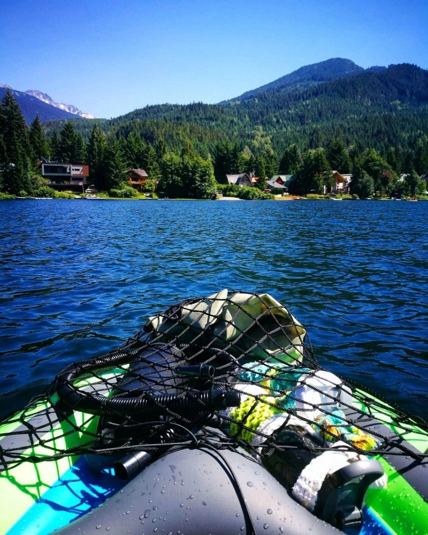 Destination Addict - Starting off our day at Alta Lake whilst kayaking The River Of Golden Dreams, Whistler, British Columbia, Canada