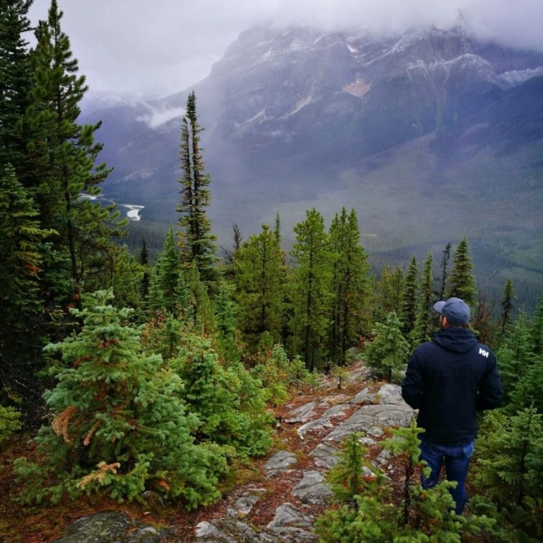 Destination Addict - At the top of Geraldine point with a view over Jasper National Park, Alberta, Canada
