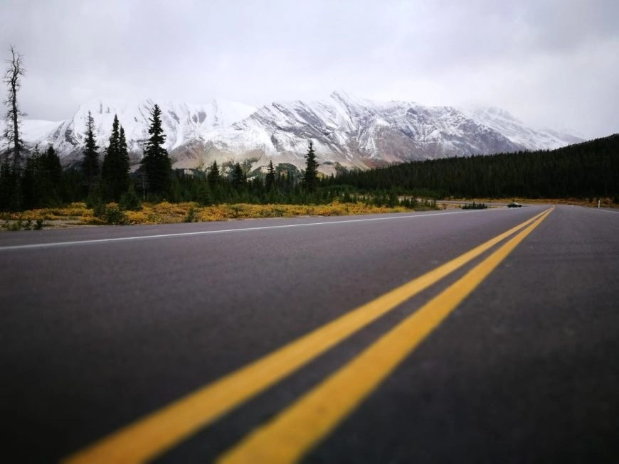 Destination Addict - Roadside stop taking in the views on the Icefields Parkway, Alberta, Canada