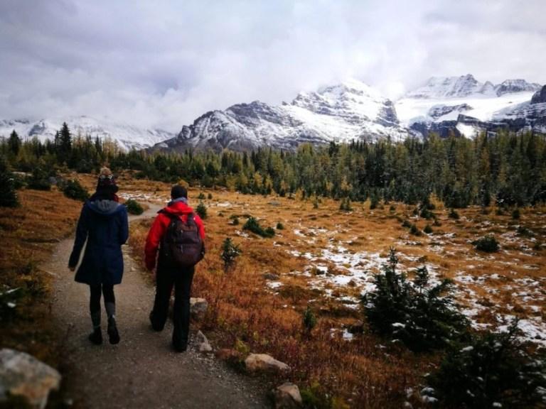 Destination Addict - Hiking down from Eiffel Peak, Moraine Lake, Alberta, Canada