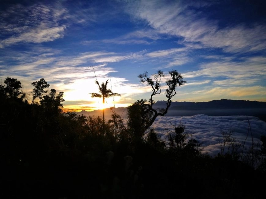 Such an awesome sunrise at Cerro Kennedy, near Minca Colombia